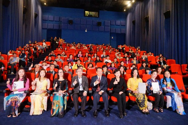 """The Road to Mandalay"" was screened at Vie Show Cinemas at Taipei Qsquare."