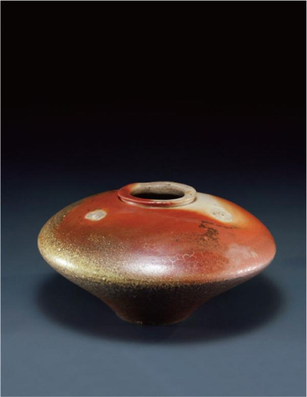 台灣柴燒紅系列作品陶器