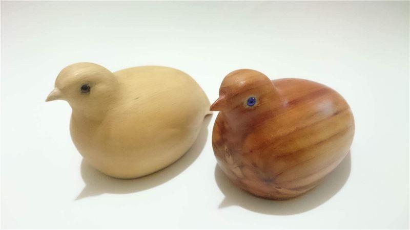 手工雕刻木頭小鴨