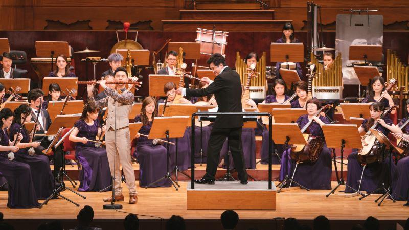圖3:張君豪《春風夜雨情》以大笛演奏,展現不凡舞台魅力。