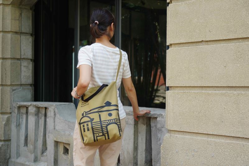 臺博鐵道部園區帆布袋-八角樓款