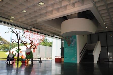 1F-藏寶圖特展-入口大廳之大型山羊造型作品(回顧)