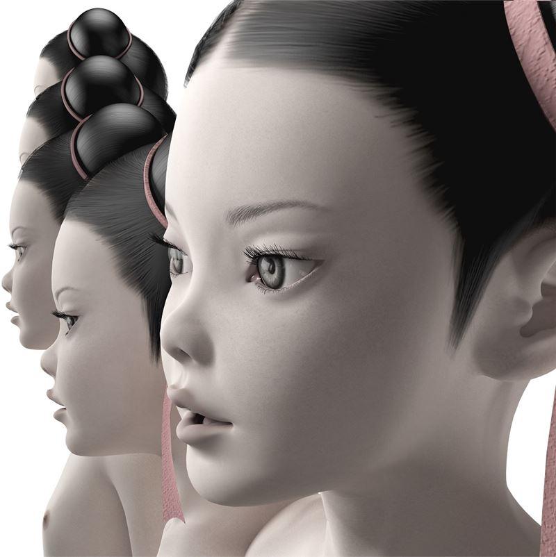 洪東祿〈安卓羅伊〉2008 立體相片、燈箱 140×140×12 cm