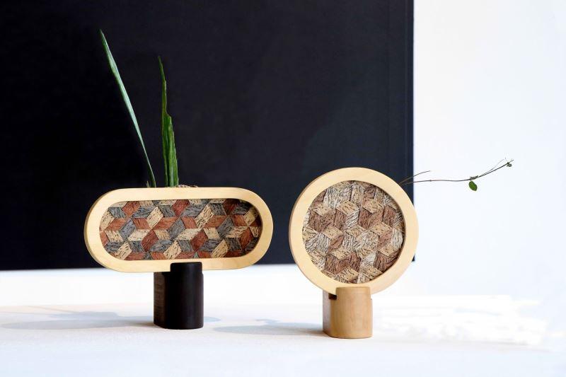 01.獨樹依織Atelier Unique tapa_樹皮編織花器Weaved Tree Bark Vase