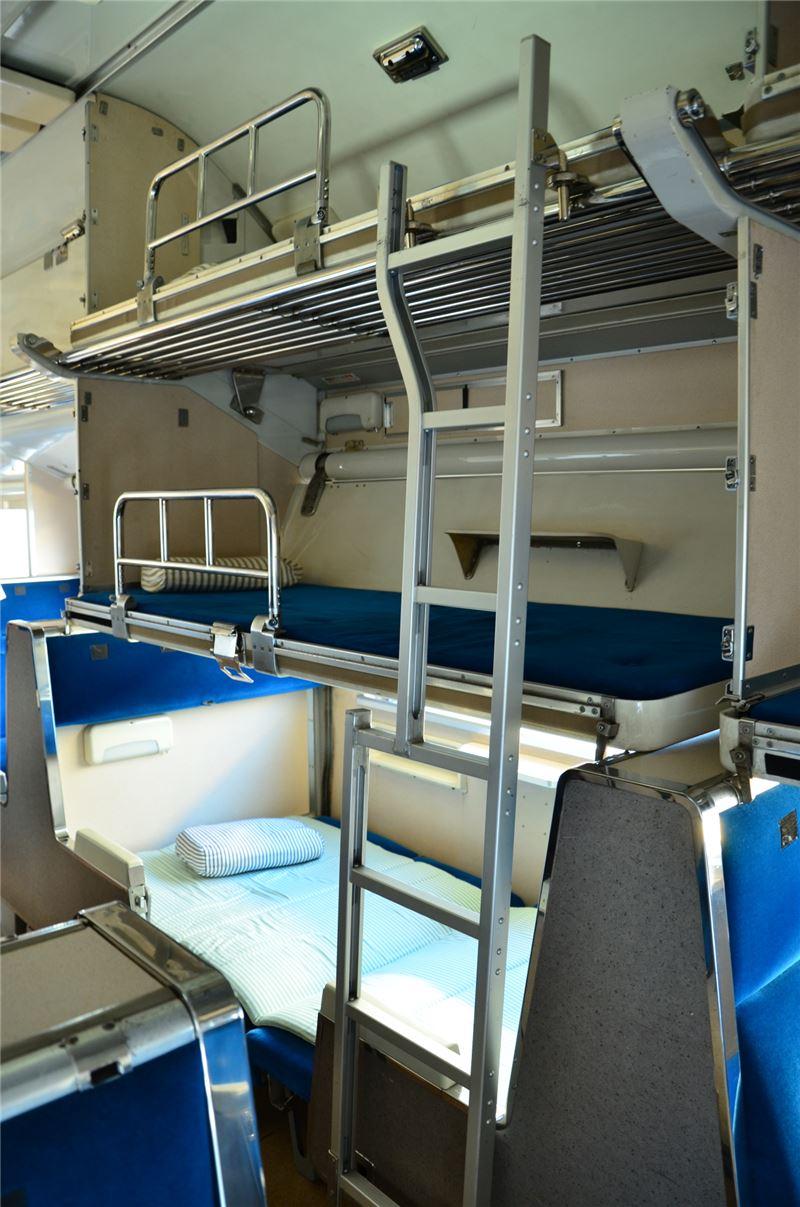 583系列車臥舖內裝(大宮鐵道博物館提供)