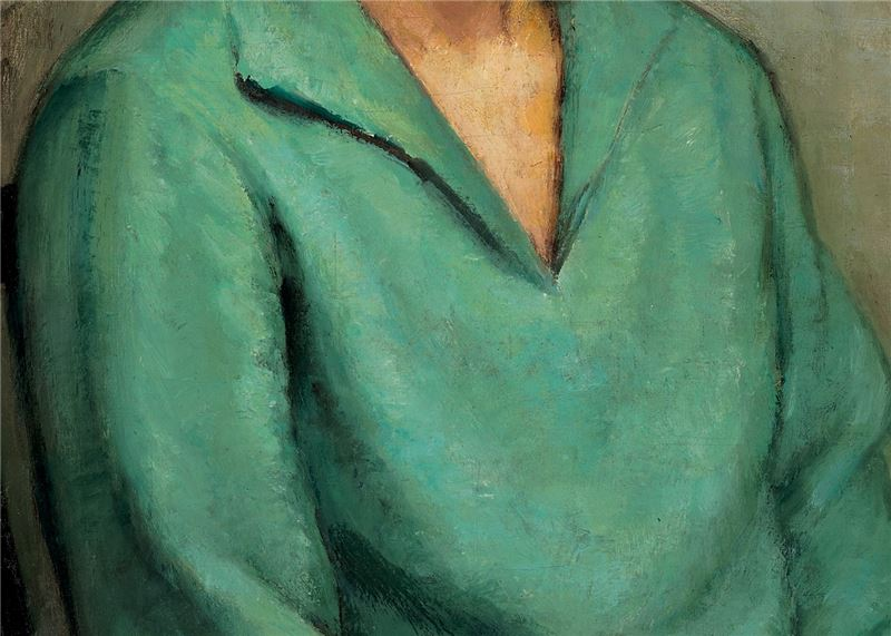 JANG Chiou-hai〈Portrait of the Artist's Wife〉Detail