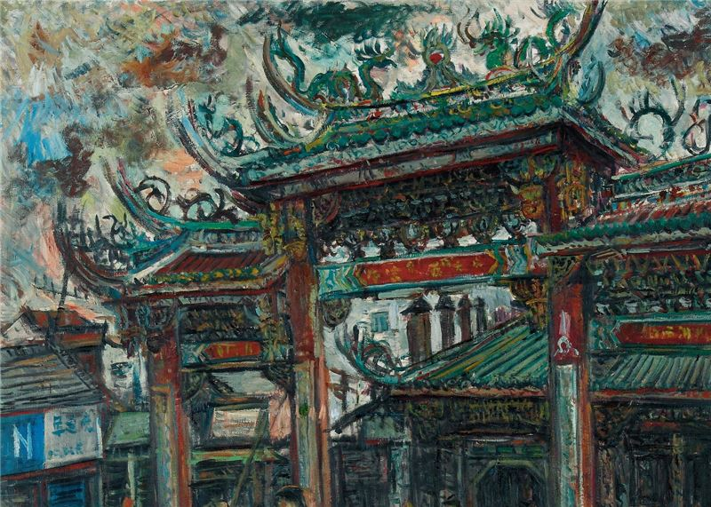 CHEN Lai-hsin〈Tianhou Temple, Lugang〉Detail
