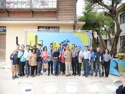 國父紀念館「中山青年藝術獎巡迴展」開幕貴賓合影。