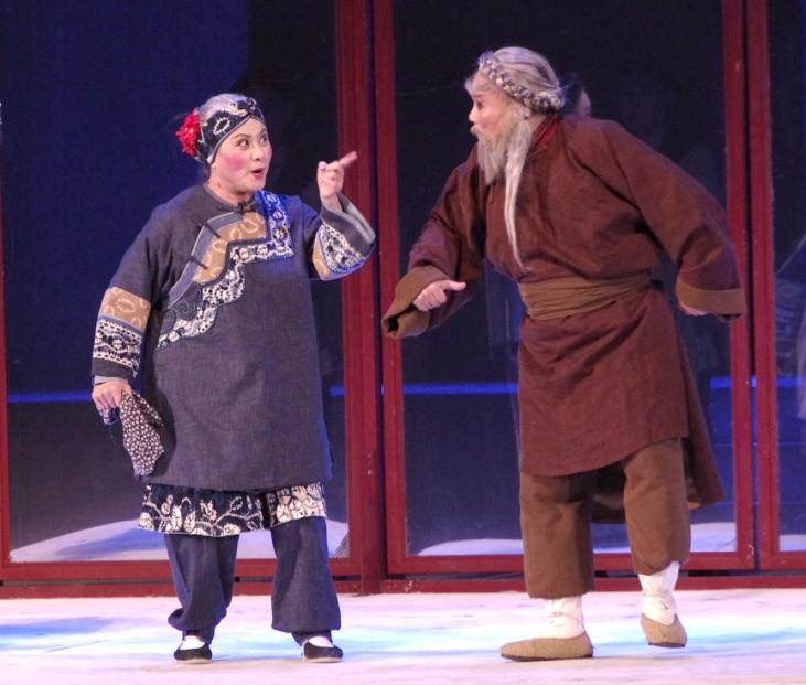 劉姥姥與焦大的 對手戲,讓河南觀 眾喜愛不已,拍案 叫絕。