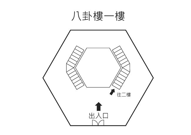 八卦樓一樓平面圖