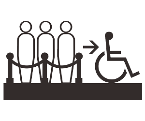 無障礙優先入館服務的符號
