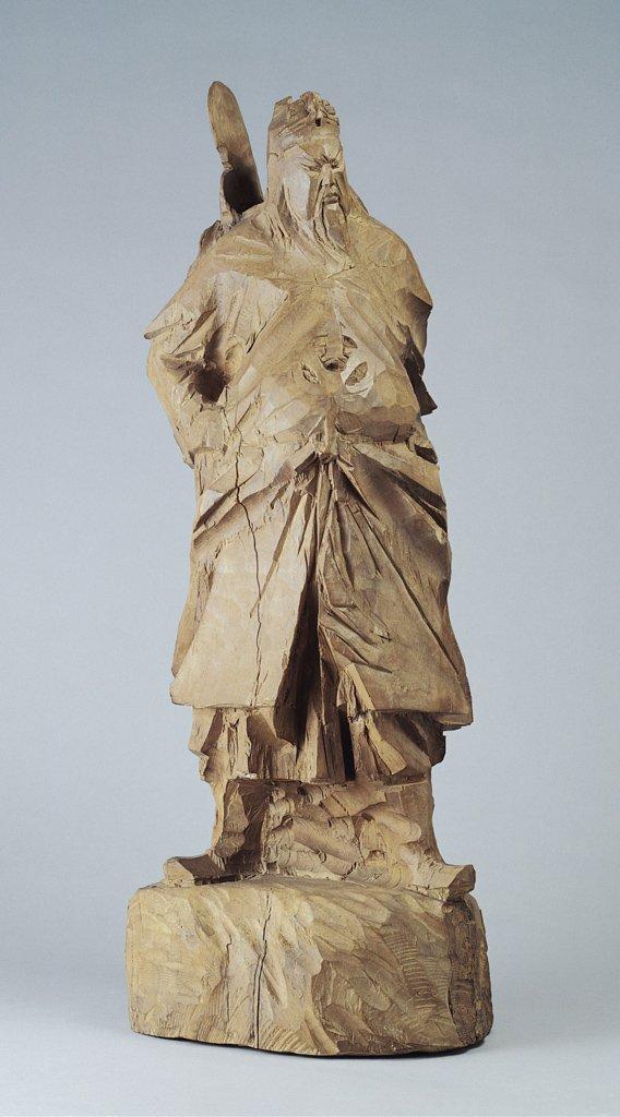 朱銘〈木雕關公〉1973 木雕 30.5×22.2×80 cm