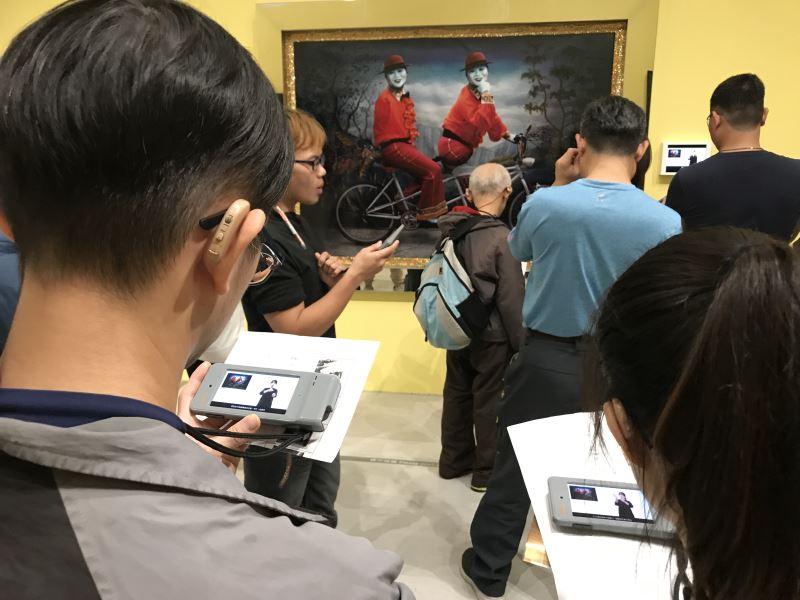 「國美友善導覽App」邀請聽障朋友體驗臺灣美術發展