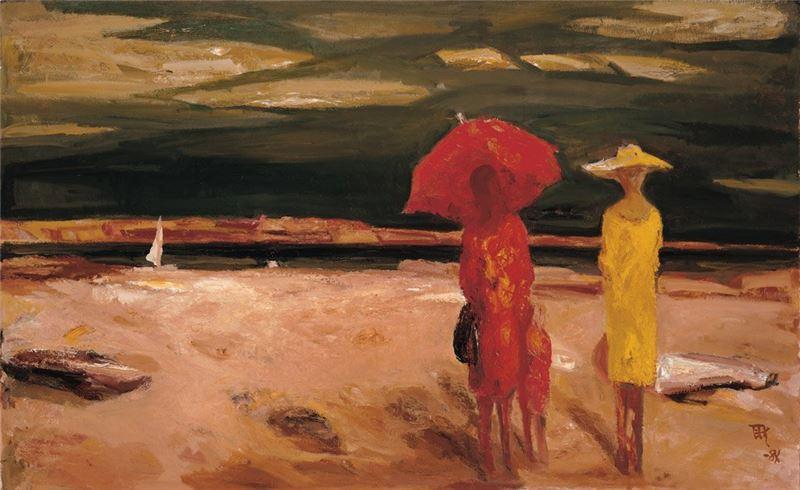 劉耿一〈遠雷〉1984 油彩、畫布 88.5×145 cm