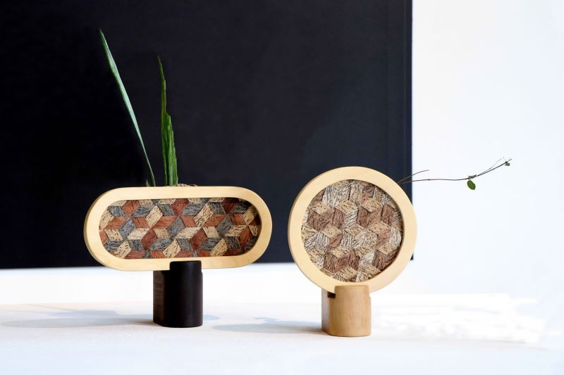 01. Atelier Unique tapa_Weaved Tree Bark Vase