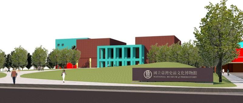 史前館再造工程大步向前,入口景觀地景重塑,強調開放性及動線優化(入口景觀示意圖)