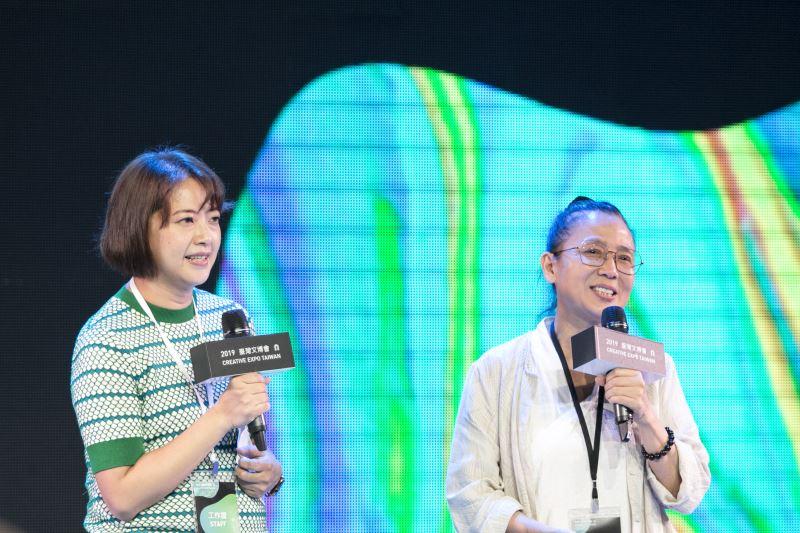 策展人劉真蓉(左)與優人神鼓劉若瑀(右)藝術總監對談