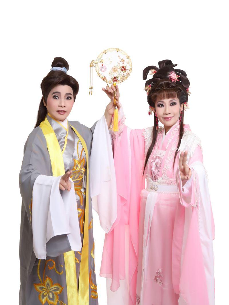 1015新聞照片:林嬋娟飾演祝英台陳麗紅飾演梁山伯