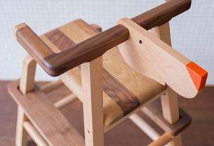 Animal High Chair-55x38x73cm/ Walnut, Oak, Beech