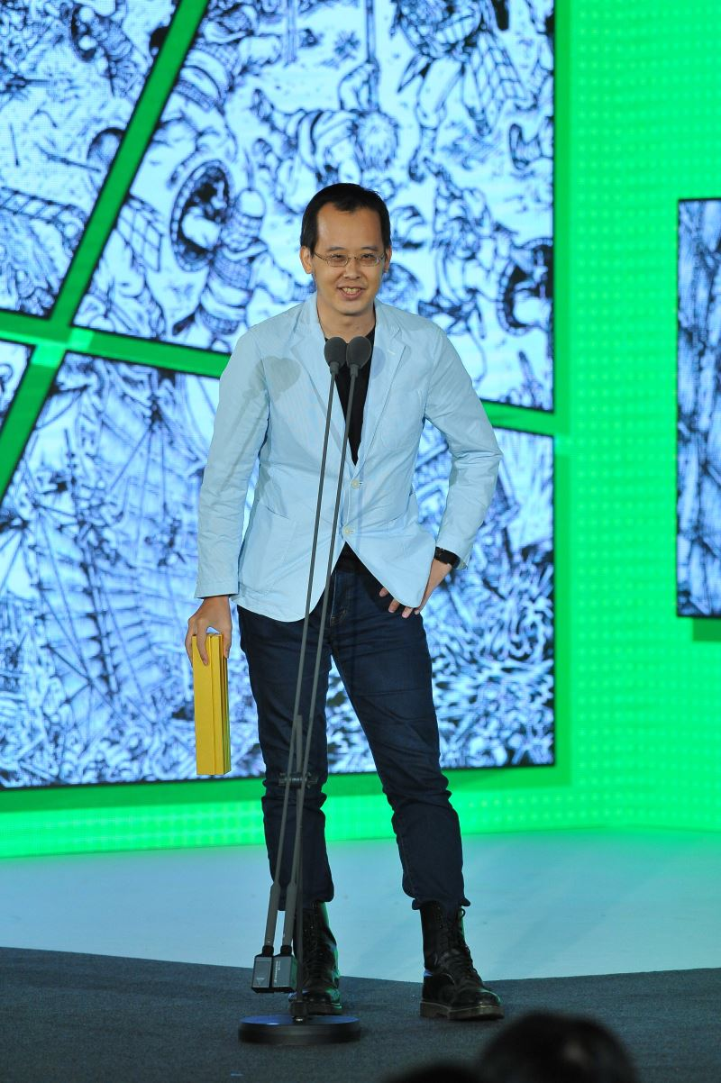 Artist Li Lung-chieh, creator of the Comic of the Year
