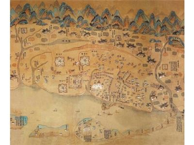 Antique Map of Taiwan during the Kang-Xi Period