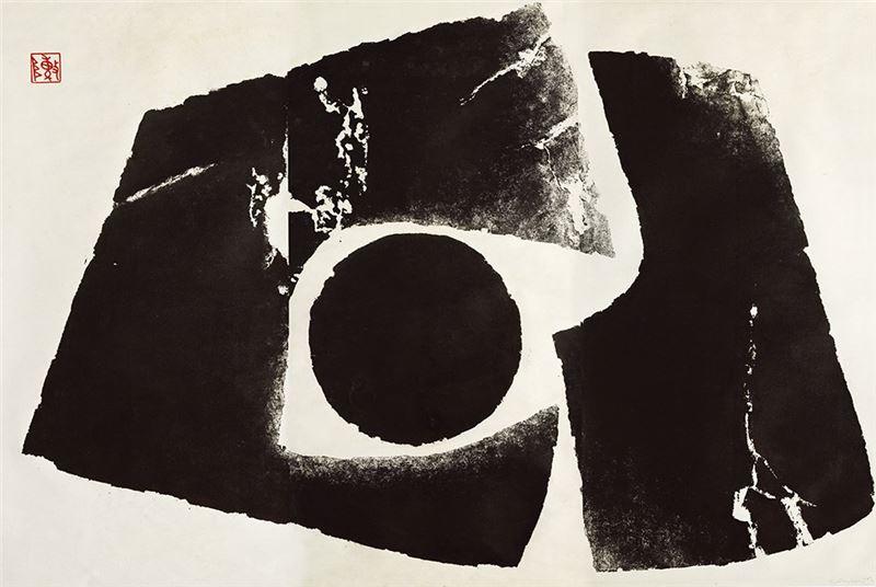 陳庭詩〈冬眠〉1969 甘蔗版 120×180 cm
