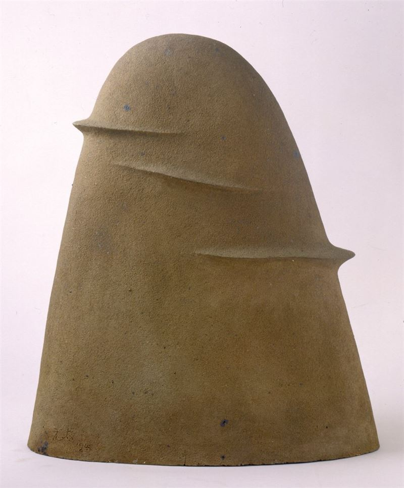 Yang Yuan-tai〈Work 1994-6 Rhythm of Mountain Pottery clay〉1994 Pottery clay 78×65×31 cm