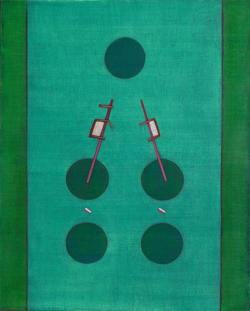 霍剛〈無題〉2001 油彩、畫布 100×80 cm
