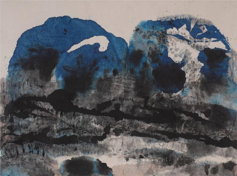 李重重〈江山萬里〉2003 水墨設色、紙本 96.5×122 cm