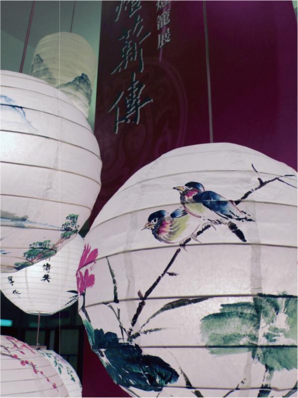 牡丹花鳥燈