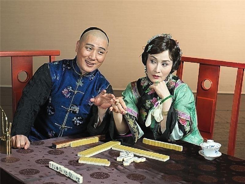 《金鎖記》宣傳照片。(魏海敏飾曹七巧,唐文華飾姜季澤)(2006)