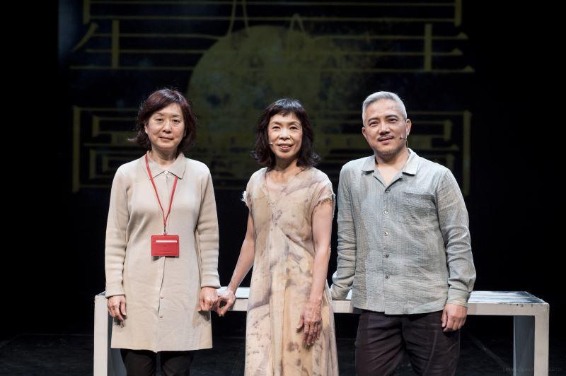 國立傳統藝術中心邀請兩位國家文藝獎得主共同探索表演本質,左起國立傳統藝術中心劇藝發展組王子雍組長、舞蹈家古名伸、戲曲演員李小平