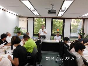 第11屆第3次董監事聯席會議-蒙藏委員會陳主任秘書致詞(後排左立)