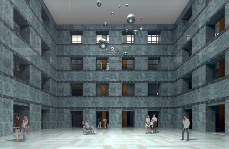史前館再造工程更新展示敘事,重新賦予觀眾友善中介空間(展示中庭改造示意)