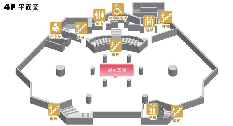 臺北分館四樓平面圖