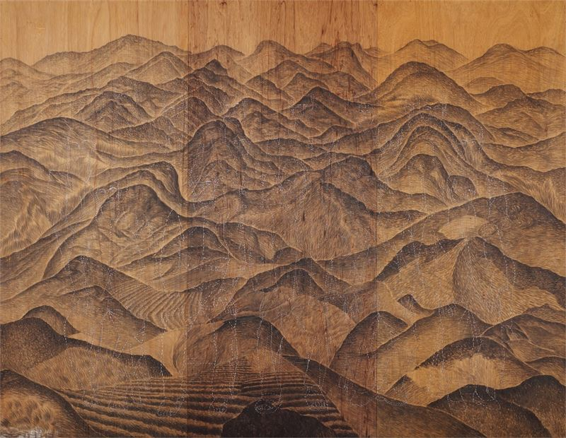 PENG Hsien-Hsiang〈Remote Village〉1999 Mixed media 213.5×275 cm