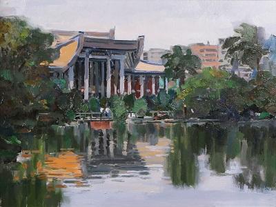 賴武雄〈初夏〉79×91_cm_油畫。