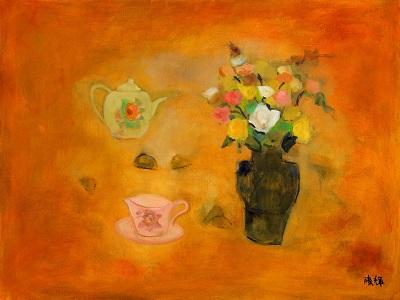 黃騰輝「玫瑰下午茶」2010。