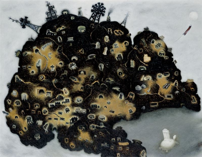 SU Wang-shen〈An Island of Castles〉1999  Oil on canvas  90.5×116.5 cm