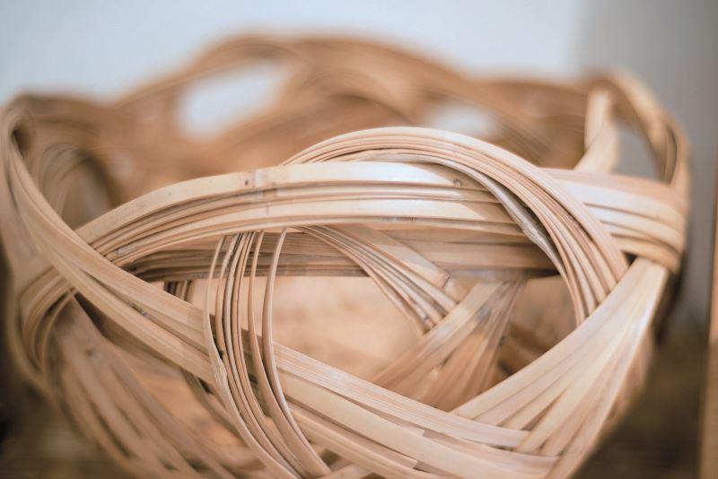崙尾天赦竹編發展協會開發的工藝商品。