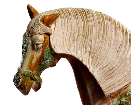 Tri-colour horse, detail-Large