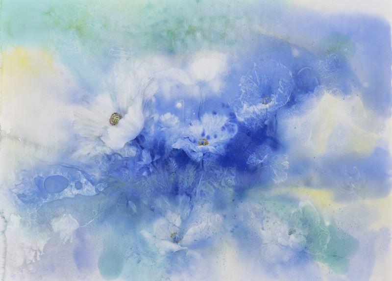 洪德忠,〈脫俗〉,2017,水彩、紙本,98×131.5cm_107年全國美展水彩類金牌獎