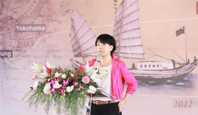 龍應台部長上台致詞肯定自由中國號船員們的冒險奔放精神