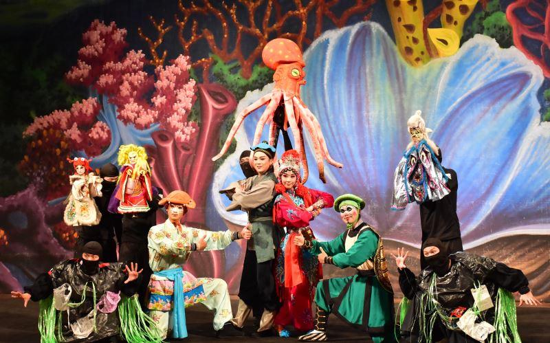 海洋保衛戰 由古都木偶劇團與臺灣豫劇團共同演出7