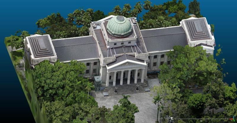 國立臺灣博物館展示近期完成建築3D掃描成果1