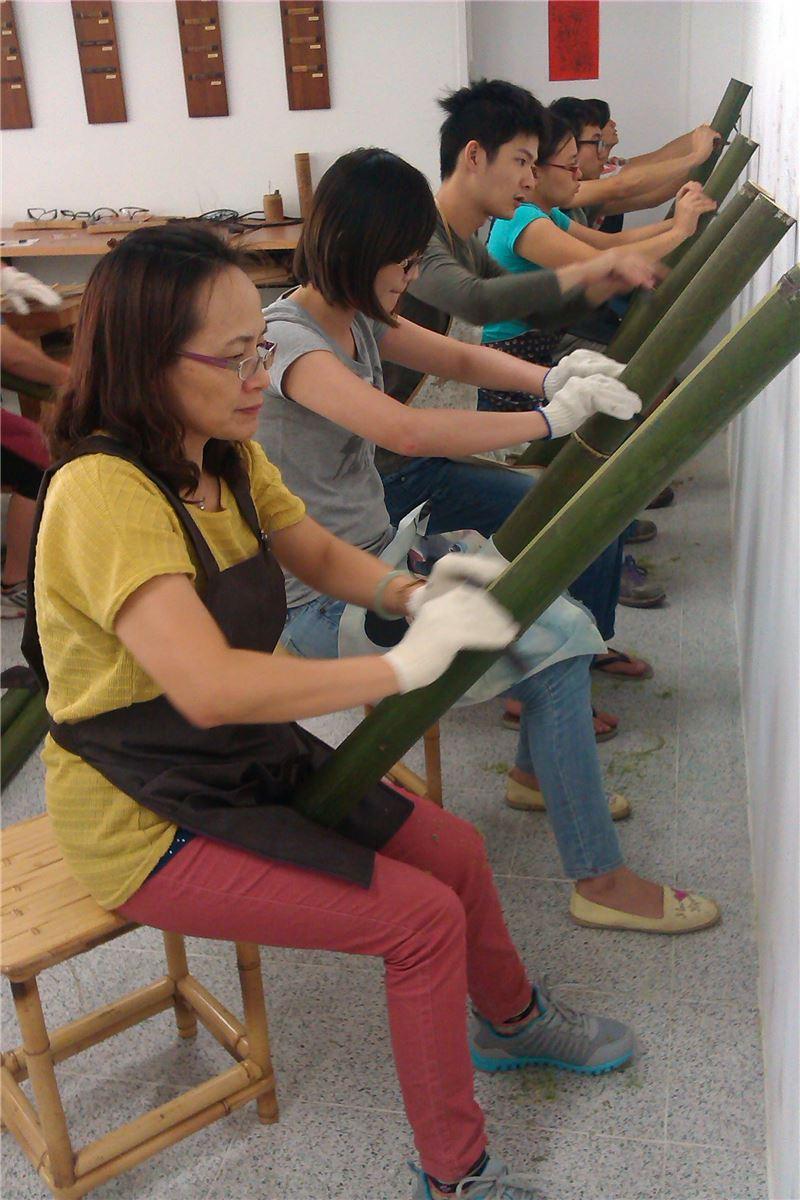 竹編工藝基礎班-竹材割青基本技法練習