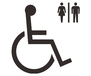 無障礙廁所的符號