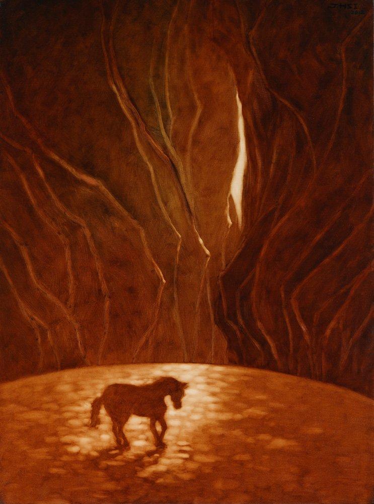 席慕蓉〈困境〉2012 油彩、畫布 130.3 ×97 cm
