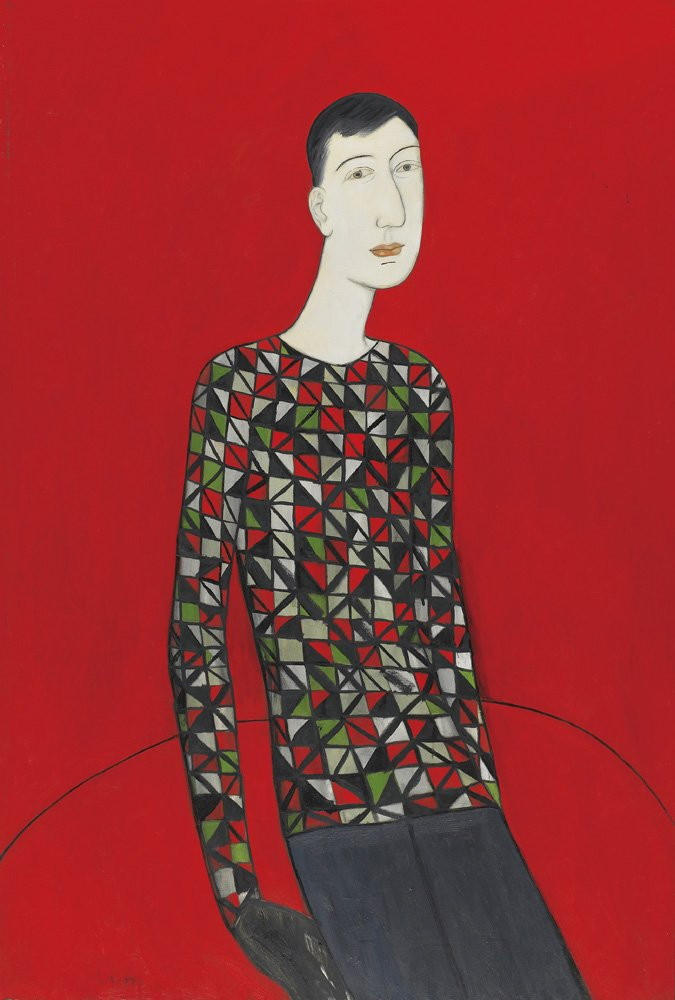 CHIU Ya-tsai〈Young Man in Plait Shirt〉1993 Oil on canvas 194×130 cm