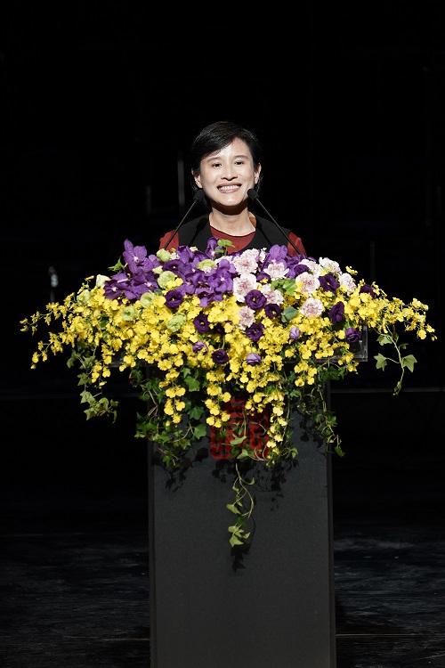 文化部部長鄭麗君期許亞太傳統藝術節能夠作為國際藝術家共同傳承及發揚傳統藝術的舞臺(國立傳統藝術中心提供)